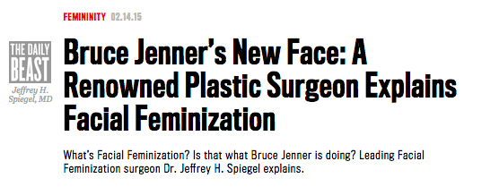 Bruce Jenner's New Face: A Renowned Plastic SUrgeon Explains Facial Feminization